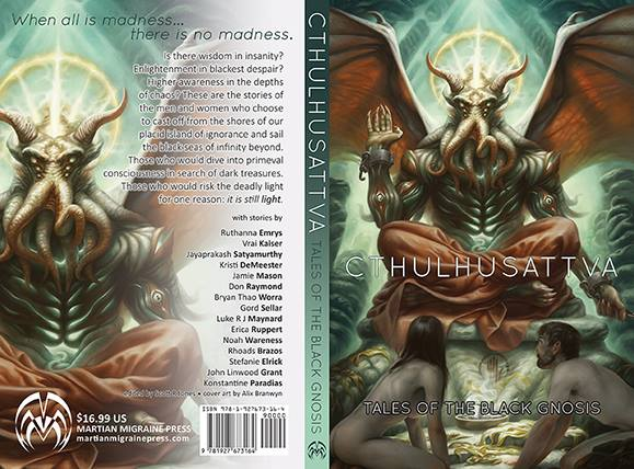 Cover Art Cthulhusttva Tales of the Black Gnosis Stefanie Elrick Writer Martian Migraine Press Lovecraft